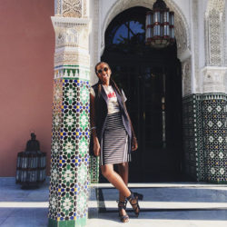 Another happy client! @sdirshe soaking up the sun in Morocco! Cornrows by Yeluchi Stylist Roxy Wignall!