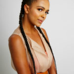 Simple Cornrows with Added Hair (10 or less)
